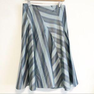 DKNY silk flowy skirt